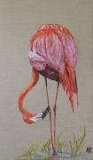 tableau animaux oiseau flamant rose marais decoration : *LE FLAMANT ROSE*