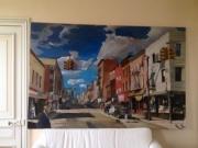 tableau architecture los angeles canvas vintage painting car voiture tableaux street rue architect : los angeles street