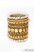 bijoux abstrait bracelet perles manchette fantaisie : Coup de soleil