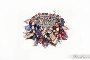 bijoux abstrait bracelet manchette printemps fantaisie : Les couleurs de la France