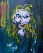tableau personnages portrait madona bis subjectif colore : Madonna bis