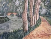 tableau paysages soleil midi canal paysage : soleil sur le canal du midi