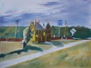 dessin paysages pastel maison hopper achat pastel peintur papier paysage : pastel maison hopper