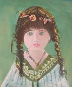 tableau personnages portrait sananda toile achat internet olivier laplace pein : sananda