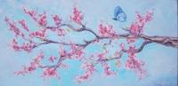 branche cerisier et papillon