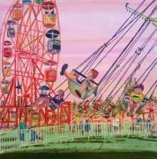 tableau achat toile cadeau cadeau toile peintur grande roue enfant : la grande roue