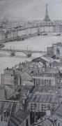 tableau architecture tableau paris vue de painting paris city buy paris city paint vue sur les toits ta : vue de paris au dessus des toits