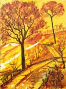 tableau paysages toiel acaht tableau achat tabbleau arreb acchat toullouse par jeune artiste achat : arrbes jaunes et oranges
