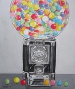 tableau tableau toulouse cadeau deco : distributeur de bonbons