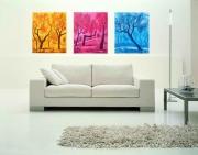 tableau paysages tableau deco triptyq tryptique deco peint toile frejus arbre s provence painting : triptyque arbres