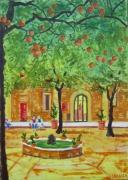 tableau architecture tableau barcelone achat peinture espag tourisme achat tabel cadeau tableau espag : la cour