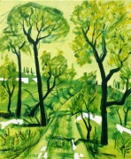 tableau arbre vert achat toile laplace toile peinture achat galerie ligne peintu : arbre vert