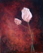 tableau fleurs roses fleure rouge belle : Roses