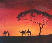tableau paysages sahara amp1057hameaux voyage amp1057oucher du : Sahara