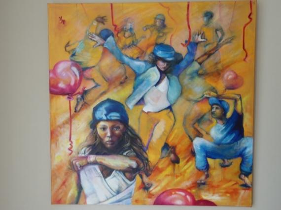TABLEAU PEINTURE Sport Acrylique  - Danse