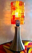 deco design autres lampe lampe tactile mosaique decoration : Lampe tactile avec abat-jour en verre