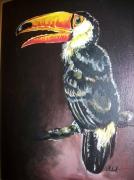 tableau animaux un oiseau du paradis : toucan 2