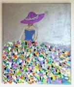 tableau personnages femme colore tableau : Femme 2
