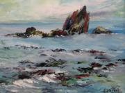 tableau marine mer marine ocean rocher : Bidart
