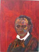 tableau personnages portrait charles baudelaire expressionisme marseille : CHARLES BAUDELAIRE, FANTOME BAUDELAIRIEN