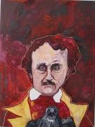 tableau portraits edgar poe expressionisme marseille : EDGAR POE, JAMAIS PLUS