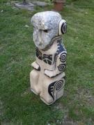 sculpture personnages primitif beton celulaire abstrait sculpture : tiki