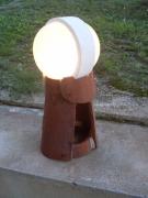 sculpture autres tuile lampe lune abstrait : lampe lune