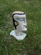 sculpture personnages beton cellulaire guerrier imaginaire sculpture : guerrier bleu