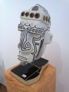 sculpture personnages afrique beton cellulair sculpture blanc : africain blanc