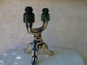 mixte abstrait lampe abstrait vegetal verre : chandellier