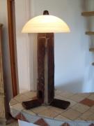 artisanat dart autres lampe artisanale verre bois : lampe fermiére