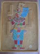 sculpture personnages maya platre civilisation ancienne : OK-AIN