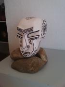 sculpture personnages abstrait tete primitif sculpture : dogon