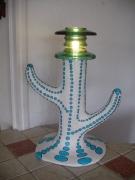 sculpture abstrait lampe sculpture bleue abstrait : lampe bleue