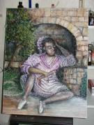 tableau personnages : Le repos de la petiteDanseuse noire