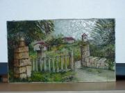 tableau paysages : vieux portail en Lozère
