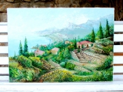 tableau paysages : Roquebrune cap martin