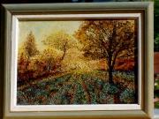 tableau paysages : Matin sur les lavandes
