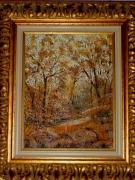 tableau paysages : Automne à St-Maximin - var