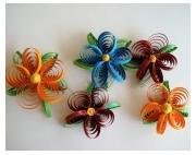 deco design fleurs guirlande papier quiling fleurs quiling decoration murale : Guirlande de Fleurs