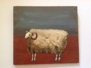 tableau animaux mouton tableau naif humour : Mouton anglais