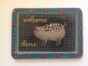 tableau animaux cochon tableau bienvenue ardoise d ecoli : Welcome home