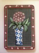 tableau fleurs ardoise d ecoli fleurs vase tableau : Bouquet de primevères