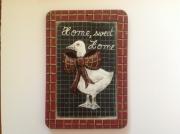 tableau animaux oie humour tableau ardoise d ecoli : Home, sweet home