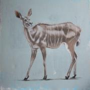 tableau animaux koudou dessin animalier artiste animalier de poret : Koudou