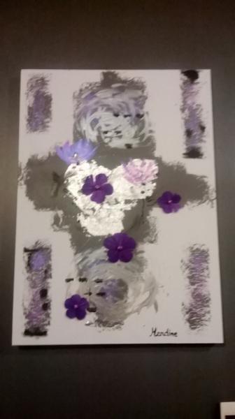 TABLEAU PEINTURE Abstrait Acrylique  - Nouveau Départ