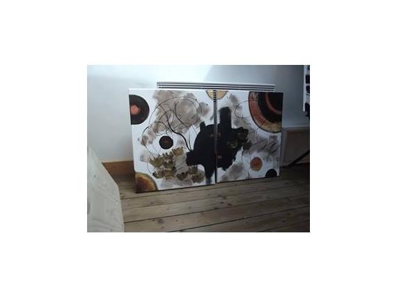 TABLEAU PEINTURE Abstrait Acrylique  - Bijou Atmosphèrique