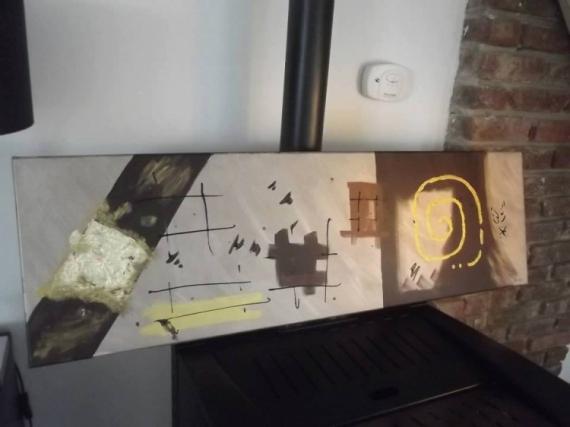 TABLEAU PEINTURE Abstrait Acrylique  - Marron & Chic'
