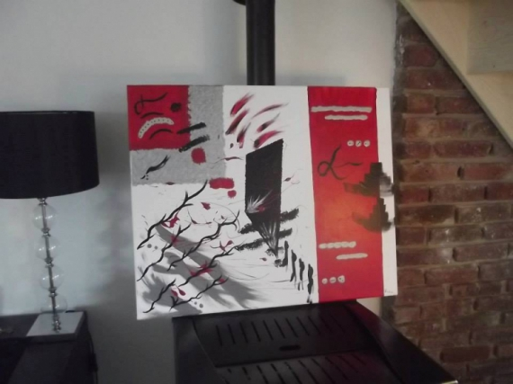 TABLEAU PEINTURE Abstrait  - Red'Evasion