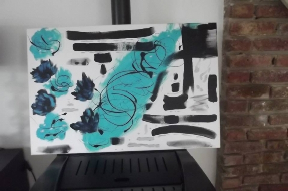 TABLEAU PEINTURE Abstrait Acrylique  - Zeniblue